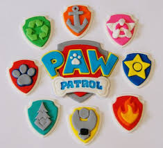 Paw Patrol Cake Decorations Paw Patrol Badge Logo Cake Topper Trade Me Cakes And Cookies