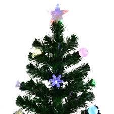 goplus 7 5ft pre lit fiber optic artificial tree w