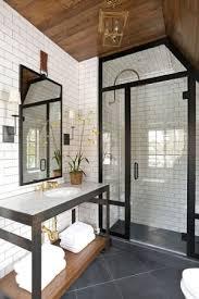 Grey Slate Tile Bathroom Kind Of Rustic Industrial Bathroom Subway Tile And Slate Tile