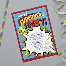 personalised superhero party invitations by bonnie blackbird