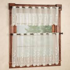 How To Hang Sheer Curtains With Drapes Kitchen Curtains U0026 Window Treatments Touch Of Class