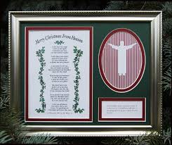 merry christmas from heaven merry christmas from heaven photo frame