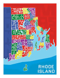 Ri Map Rhode Island Hand Lettered Map U2013 I Lost My Dog
