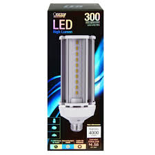 Led Bulbs For Outdoor Lighting by Feit C4000 5k Led 300w Replacement 5000k Non Dimmable Led Light