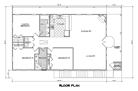 one floor plan one house plans with open concept 1 500 square