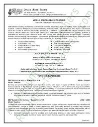 california teacher resumes 2016 sles music teacher resume sle sle resume job interviews and