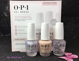 opi barely beige gel break treatment system in 3 steps trio pack i