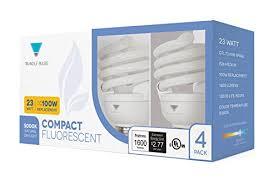 100w cfl light bulbs triangle bulbs t40144 4 4 pack 23 watt 100w spiral medium base