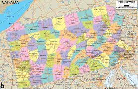 Political Map United States by Pennsylvania Political Map