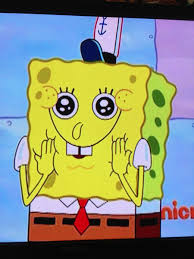 Excited Face Meme - list of synonyms and antonyms of the word excited spongebob