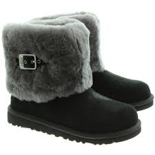 ugg ellee sale ugg ellee fur top boots in black in black