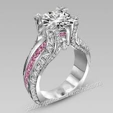 Pink Wedding Rings by Online Get Cheap Pink Stone Aliexpress Com Alibaba Group