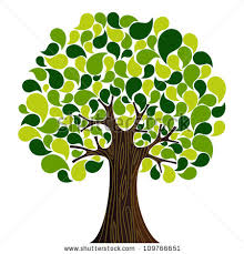 abstract green tree isolated on white stock vector 574855531