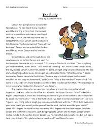 the bully reading comprehension pinterest reading