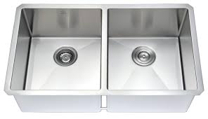 anzzi vanguard undermount stainless steel 32 in double bowl