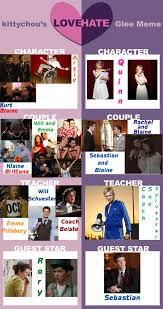 Glee Meme - love hate glee meme by kurtklaineblaine on deviantart
