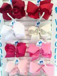 wee ones hair bows wee ones king classic hair bow plain wrap clip available in 24