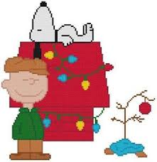 snoopy tree cross stitch pattern color christmas brown snoopy tree