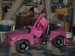 pink power wheels mustang nelly s team mustang power wheels tuning with lambodoors con