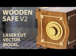 Wood Projects Youtube wooden safe project plan for laser cut youtube wood work