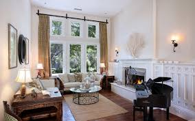 photo a grand piano living room interior fireplace lamp 2560x1600