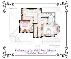 house of lorelai and rory gilmore first floor by nikneuk on