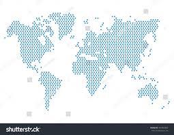 World Map Vector Dot World Map Isolated On White Stock Vector 401963860 Shutterstock