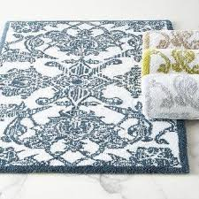 Fieldcrest Luxury Bath Rugs Fieldcrest Luxury Blue Pattern Bath Rug