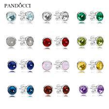 s birthstone earrings 2017 s day 925 sterling silver january december birthstone
