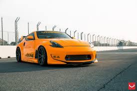 nissan 370z japan price nissan 370z tuning vossen wheels orange japan sports cars k