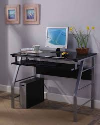 Mainstays Glass Top Desk by 2950 Series Kings Brand Glass U0026 Metal Home Office Computer