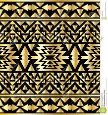 Art Deco Style Seamless Aztec Pattern Art Deco Style Vector Illustration Stock