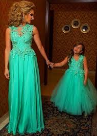 2015 parent child dress mother and daughter formal party dress a