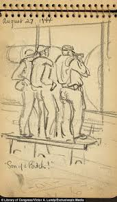us soldier victor alfred lundy reveals his wwii sketches daily