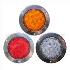 4 inch round led tail lights 12v 24v 10 30v 4 led tail lights round stop turn tail signal light
