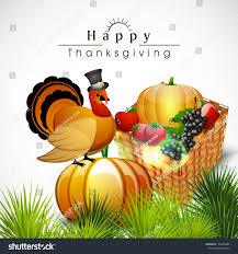 happy thanksgiving day celebration concept wooden stock vector