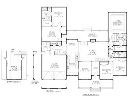 3 Bedroom Floor Plans With Bonus Room by Houseplans Biz House Plan 2990 A The Arlington A