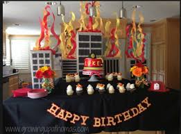 firefighter home decorations firefighter 3rd birthday party diy cardboard firetruck