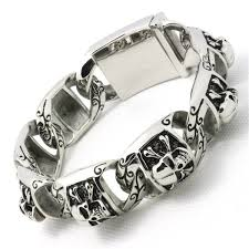 fashion stainless steel bracelet images 146g top quality gothic style skull 316l stainless steel bracelet jpg