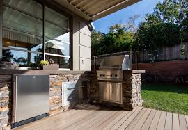 custom outdoor kitchen bbq grill with high quality cast in place