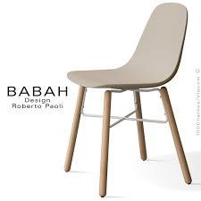 dossier de chaise chaise design babah wood pieds bois naturel assise coque plastique