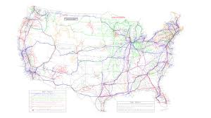 amtrak map usa every and amtrak route across the us mapped