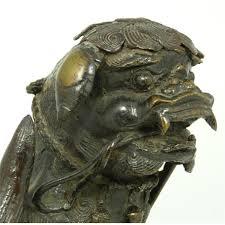 foo dog sculpture antique bronze foo dog sculpture