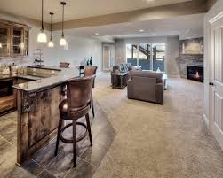 basement homes finished daylight basement bar walkout bickimer homes model