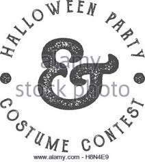 halloween costume contest grunge rubber stamp on white background