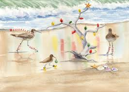 decking the tree sandpipers lighting driftwood christmas tree