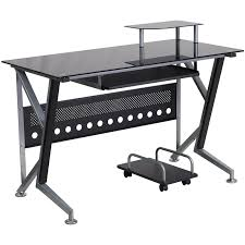 Computer Desks With Keyboard Tray Stanton Computer Desk With Pullout Keyboard Tray Black