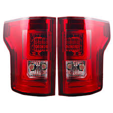 2016 f150 led tail lights f 150 led taillight chrome housing with red lens pair 2015 2017