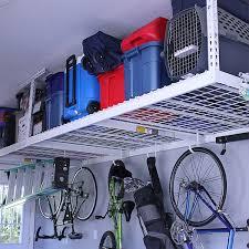 Bathroom Amusing Metal Garage Storage This Overhead Garage Storage Rack Fits Nearly Any Garage And