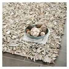 safavieh leather shag lsg511c area rug white hayneedle